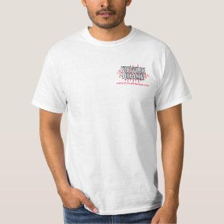 Camisa dual vieja de Lite del logotipo/del