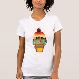 Camisa dulce del helado del limón