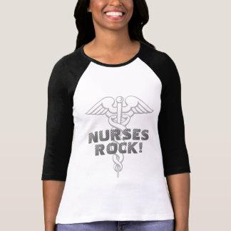 Camisa el | de la roca de las enfermeras blanco y