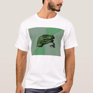 Camisa en blanco de Philosoraptor Meme - luz