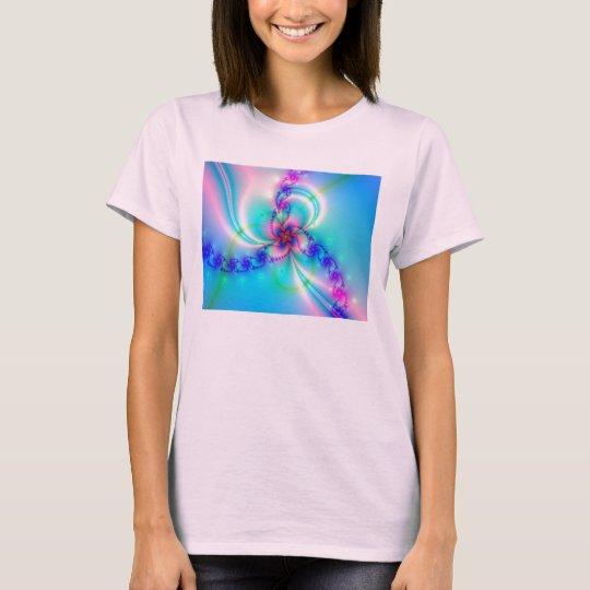 Camisa en colores pastel del fractal de las