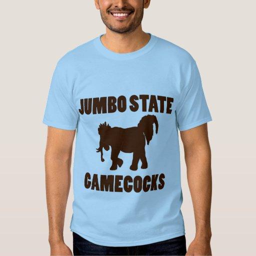 Camisa enorme de los gallos de pelea del estado