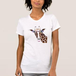 Camisa enrrollada alterada de la jirafa del arte
