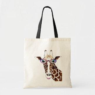 Camisa enrrollada alterada de la jirafa del arte bolsa tela barata