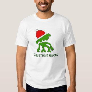 ¡Camisa enrrollada de las rocas del navidad! Camisas