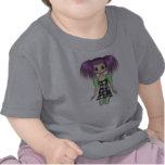 Camisa enrrollada del niño del animado del chica