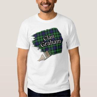 Camisa escocesa de la pintura del tartán de Graham