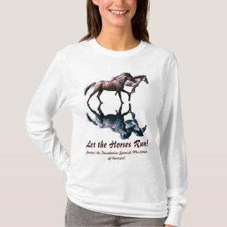 Camisa española corriente del Caballo-Amante de