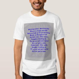 Camisa esterlina de Alma Mater de la High School