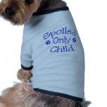 Camisa estropeada del mascota del hijo único camisa de mascota