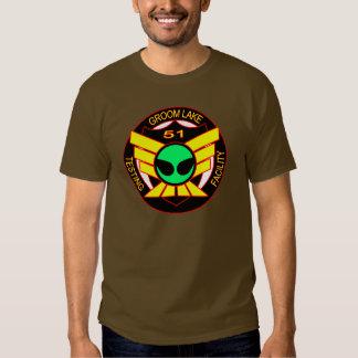 Camisa extranjera verde del área 51