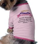 Camisa fabulosa del mascota de princesa Ida de los Ropa De Mascota
