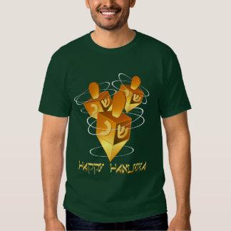 Camisa feliz de Hanukka Dreidels