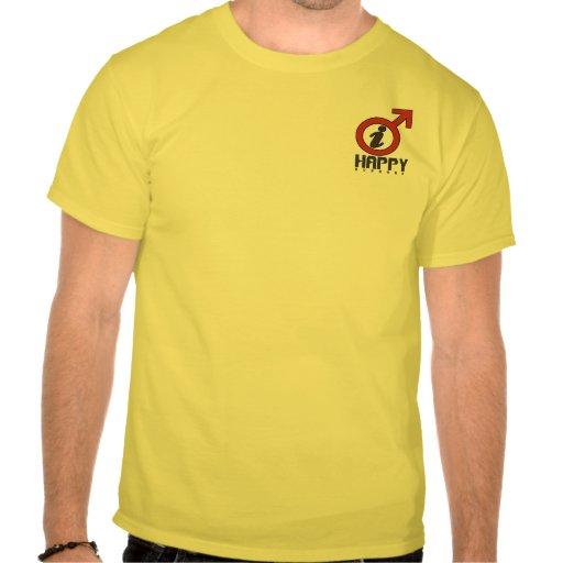 Camisa feliz del marido