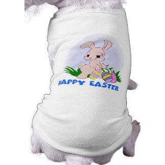 Camisa feliz del perro de Pascua Playera Sin Mangas Para Perro