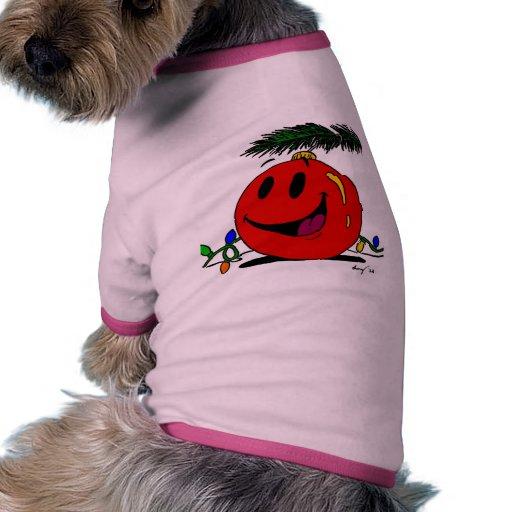 Camisa feliz del perro del ornamento ropa de perro