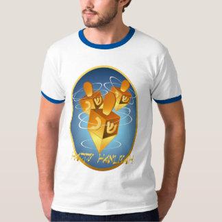 Camisa feliz enmarcada de Jánuca Dreidels