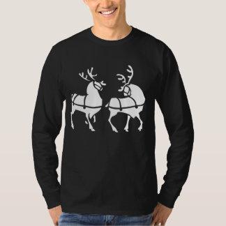 Camisa festiva del navidad de la camisa del reno
