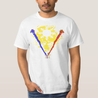 Camisa filipina de la bandera del estilo V