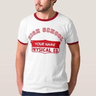Camisa física retra del gimnasio de Ed