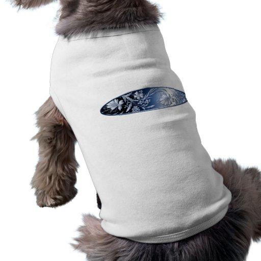 Camisa floral azul del perro ropa de perros