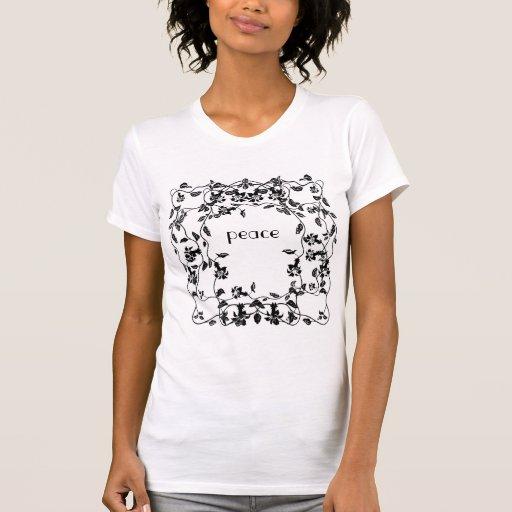 Camisa floral de la paz de la vid