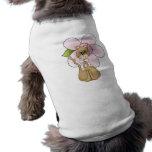 Camisa floral del perro de la conciencia del cánce camisa de mascota