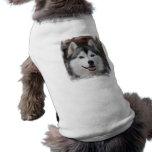 Camisa fornida del perro playera sin mangas para perro
