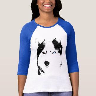 Camisa fornida para mujer del perro de trineo de