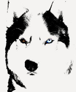 Camisa fornida para mujer del perro de trineo de l