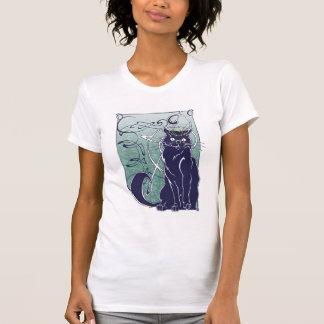 Camisa francesa del gato de Nouveau del arte
