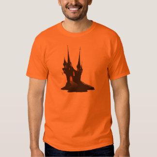 Camisa frecuentada de Halloween del castillo