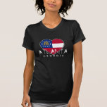 Camisa fresca del corazón de la bandera de Atlanta