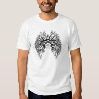 Camisa fresca del punk del pulmón