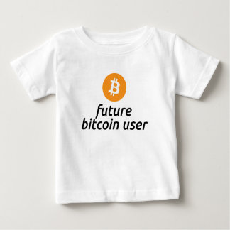 Camisa futura del bebé del usuario de Bitcoin