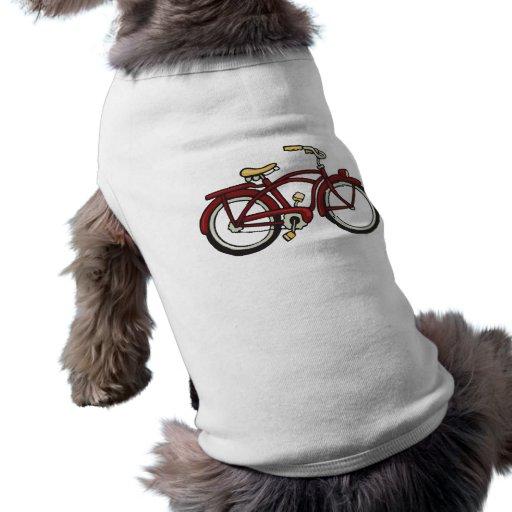 Camisa gorda del perro de la bici del neumático playera sin mangas para perro