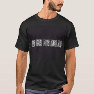 Camisa gótica de las letras de la muerte negra