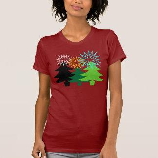 Camisa gráfica del árbol de navidad
