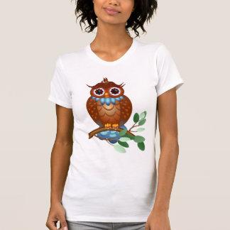 Camisa grande del búho   de Brown