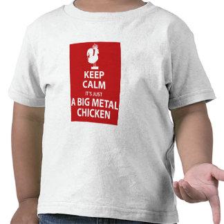 Camisa grande del pollo del metal