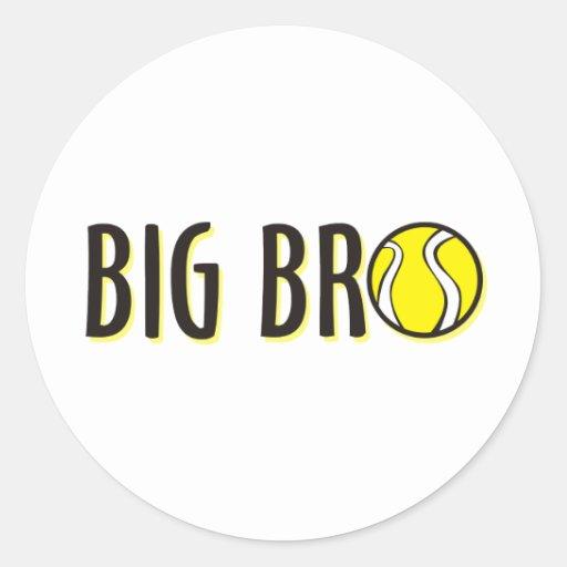 Camisa grande fresca de Bro Brother - tema del Pegatina Redonda