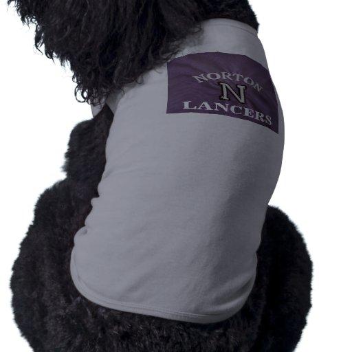 Camisa gris y púrpura del perro de los lanceros de ropa perro