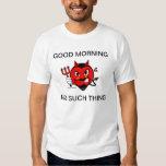 Camisa gruñona de la buena mañana del diablo