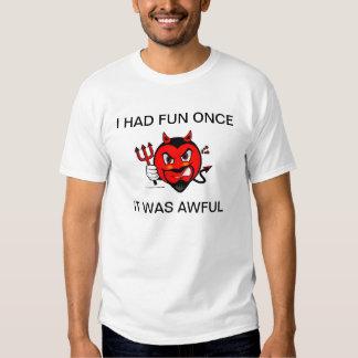 Camisa gruñona del diablo