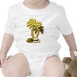 Camisa hawaiana de los árboles de coco