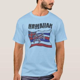 Camisa hawaiana del azul de la bandera