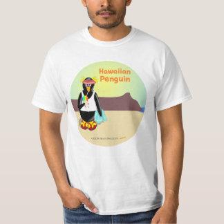 Camisa hawaiana del pingüino