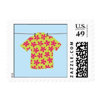 Camisa hawaiana sello postal