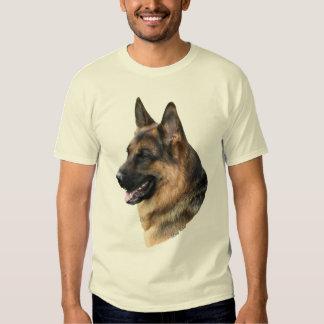 Camisa headstudy del perro de pastor alemán