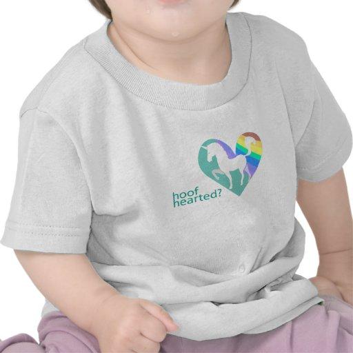 Camisa Hearted del arco iris del unicornio del niñ